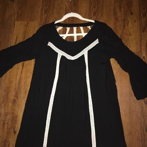 Black Tunic with crochet detail